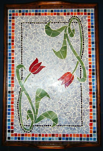 bandeja, mosaico