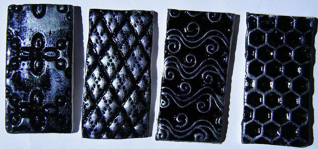 texturas decoradas con acrílicas