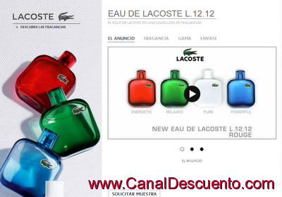 perfumes Lacoste