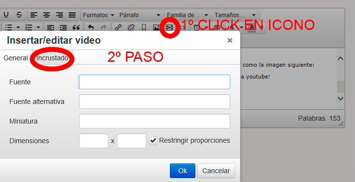 añadir un video de youtube en la web